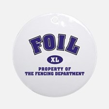 Foil: Fencing Dept Ornament (Round)