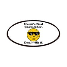 World's Best Godmother Humor Patches