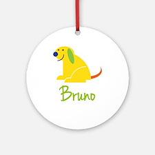 Bruno Loves Puppies Ornament (Round)