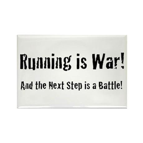 Running is War Rectangle Magnet