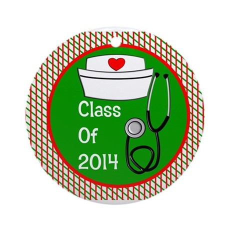 nurse ornament class of 15 Ornament (Round)