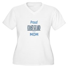 Proud COAST GUARD Mom Women's Plus Size V-Neck Tee