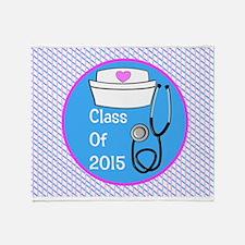nurse ornament class of 15 PB Throw Blanket