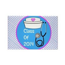 nurse ornament class of 14 pb Rectangle Magnet