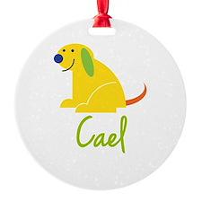 Cael Loves Puppies Ornament