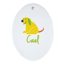 Cael Loves Puppies Ornament (Oval)