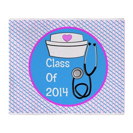 nurse ornament class of 14 pb Throw Blanket