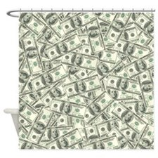 100 Dollar Bill Money Pattern Shower Curtain