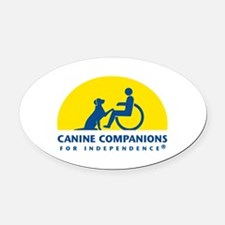 Color Canine Companions Logo Oval Car Magnet