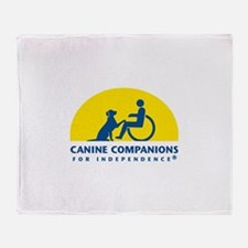 Color Canine Companions Logo Throw Blanket