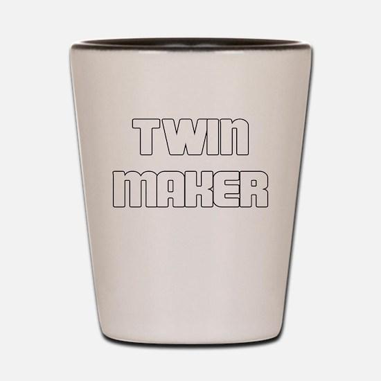 TWIN MAKER WHITE Shot Glass