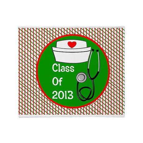 nurse ornament class of 13 Throw Blanket