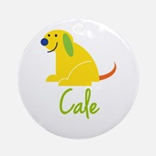 Cale Loves Puppies Ornament (Round)