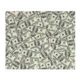 Hundred thousand dollar bill Fleece Blankets