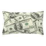100 dollar bill Pillow Cases