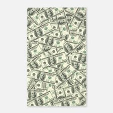 100 Dollar Bill Money Pattern 3'x5' Area Rug