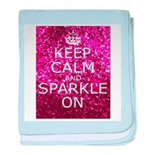 Keep Calm and Sparkle On baby blanket