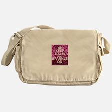 Keep Calm and Sparkle On Messenger Bag