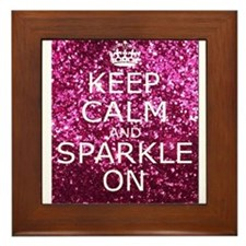 Keep Calm and Sparkle On Framed Tile