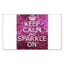 Keep Calm and Sparkle On Decal