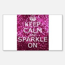 Keep Calm and Sparkle On Decal