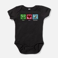 Peace Love Kayaking Baby Bodysuit