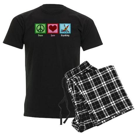 Peace Love Kayaking Men's Dark Pajamas
