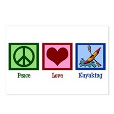 Peace Love Kayaking Postcards (Package of 8)