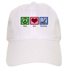 Peace Love Kayaking Baseball Cap