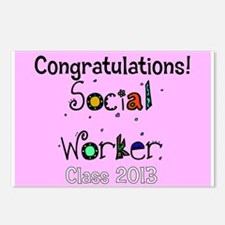 social worker grad congrats cards Postcards (Packa