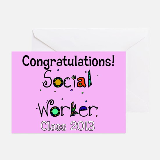 social worker grad congrats cards Greeting Cards (
