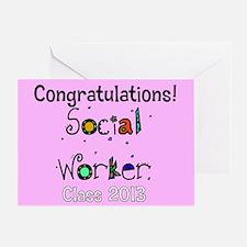 social worker grad congrats cards Greeting Card