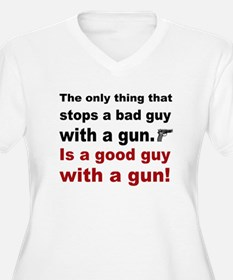 Good Guy with a gun Plus Size T-Shirt