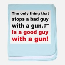 Good Guy with a gun baby blanket