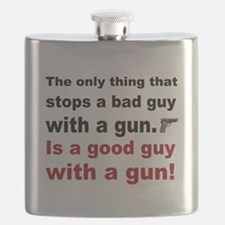 Good Guy with a gun Flask
