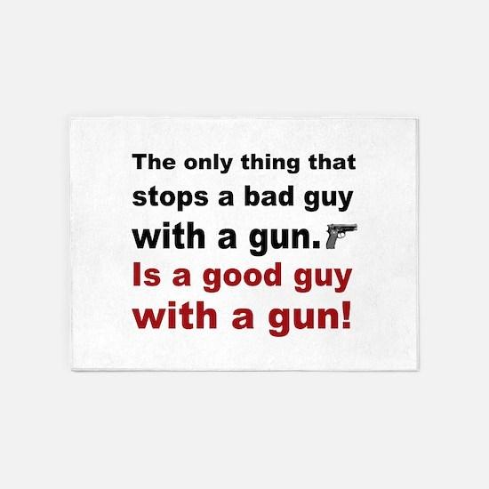 Good Guy with a gun 5'x7'Area Rug