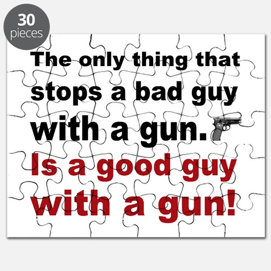 Good Guy with a gun Puzzle