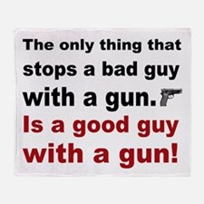 Good Guy with a gun Throw Blanket