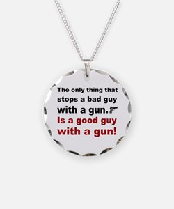 Good Guy with a gun Necklace