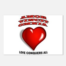 LOVE CONQUERS ALL Postcards (Package of 8)