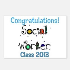social worker grad congrats Postcards (Package of