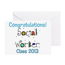 social worker grad congrats Greeting Cards (Pk of
