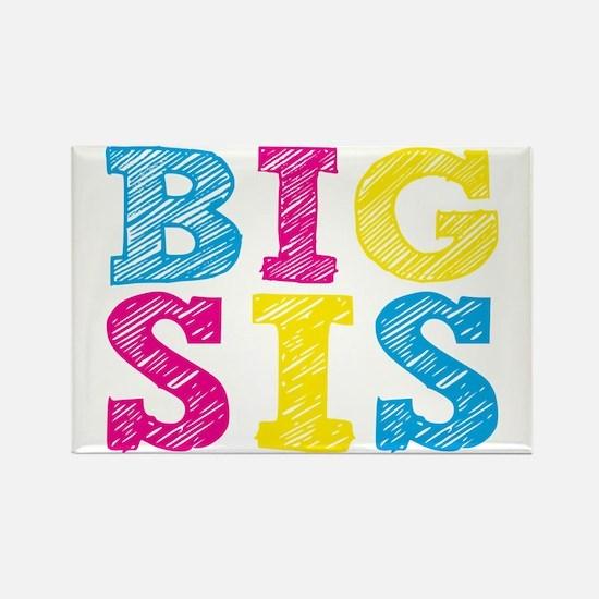 "Colorful ""Big Sis"" Rectangle Magnet"
