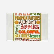 Autumn Subway art Rectangle Magnet