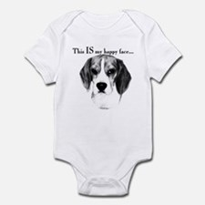 Mini Schnauzer Happy Face Infant Bodysuit