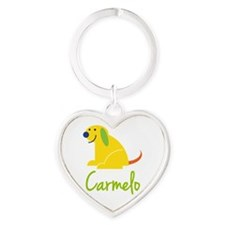 Carmelo Loves Puppies Keychains