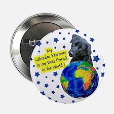 Labrador Retriever (Black) Button
