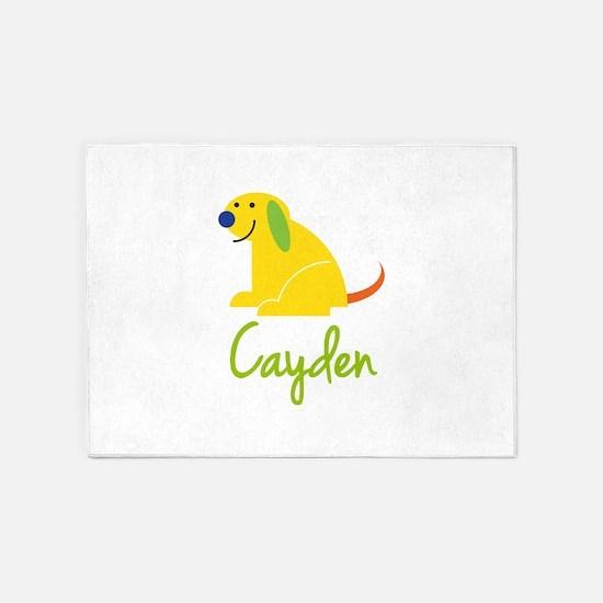 Cayden Loves Puppies 5'x7'Area Rug