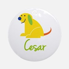 Cesar Loves Puppies Ornament (Round)