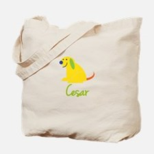 Cesar Loves Puppies Tote Bag